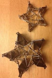 Cara Membentuk - Formasi Bintang Segi Lima dari Binder Klip