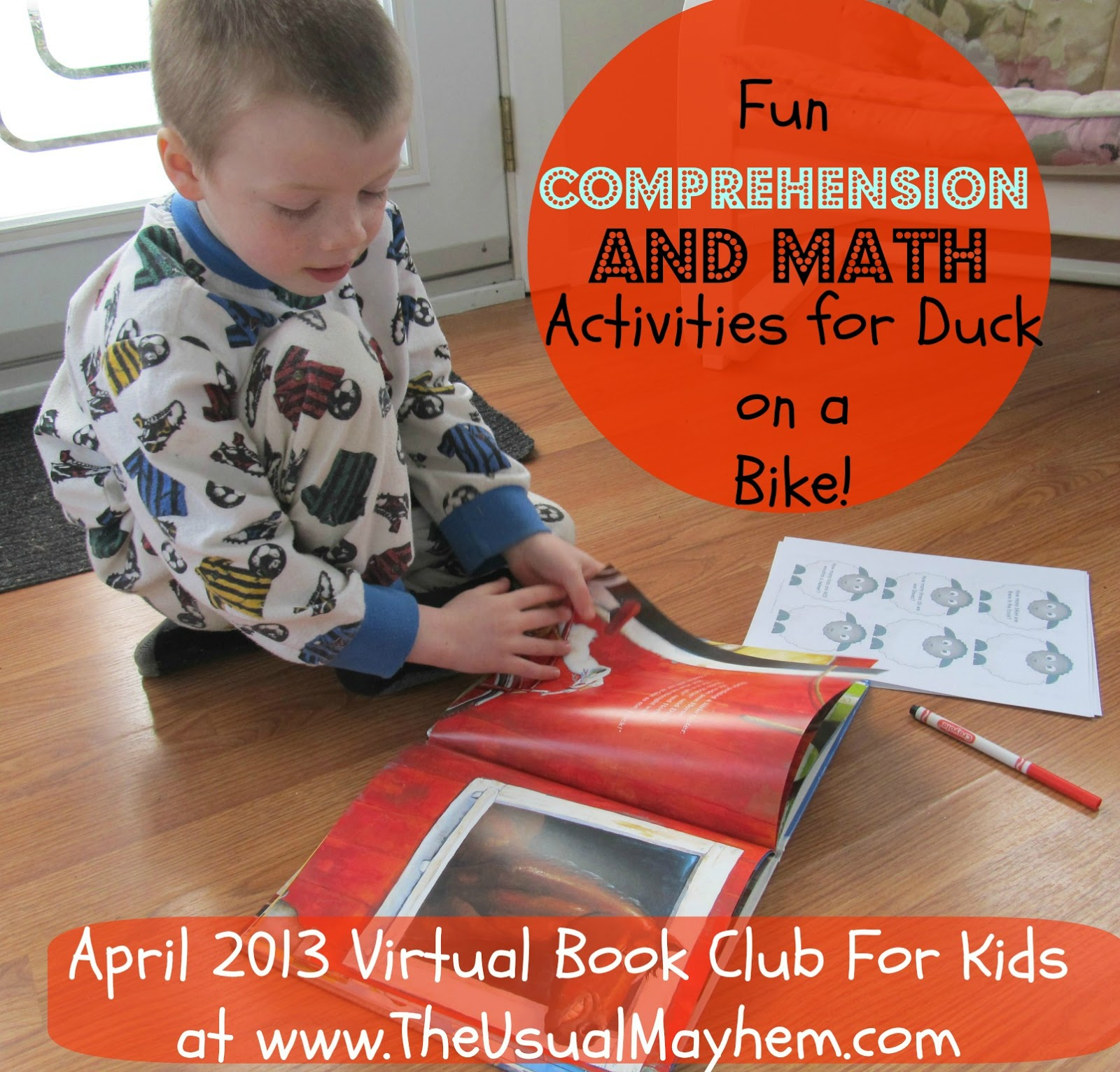 comprehension and math questions for duck on a bike by david