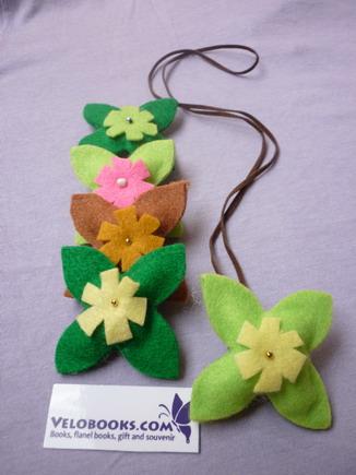 Kalung bunga cantik darikain flanel aneka warna ala Pernik VELO ini