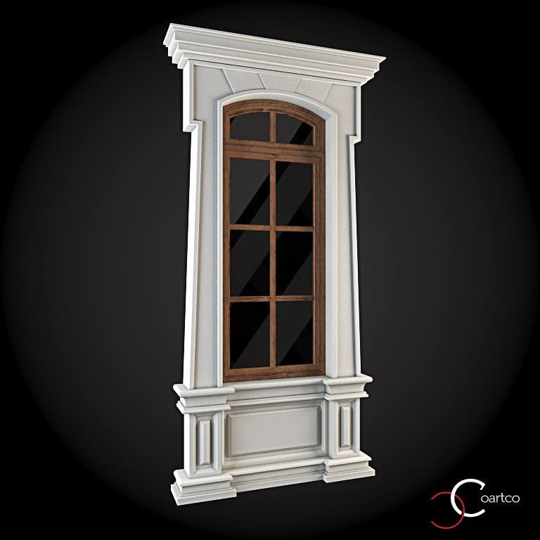 Ornamente Geamuri Exterior, fatade case cu profile decorative polistiren, profile fatada,  Model Cod: WIN-045