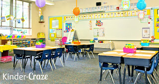 love this bright kindergarten classroom!