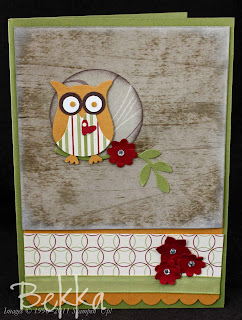 Wood Grain Effect Card with the Owl Punch