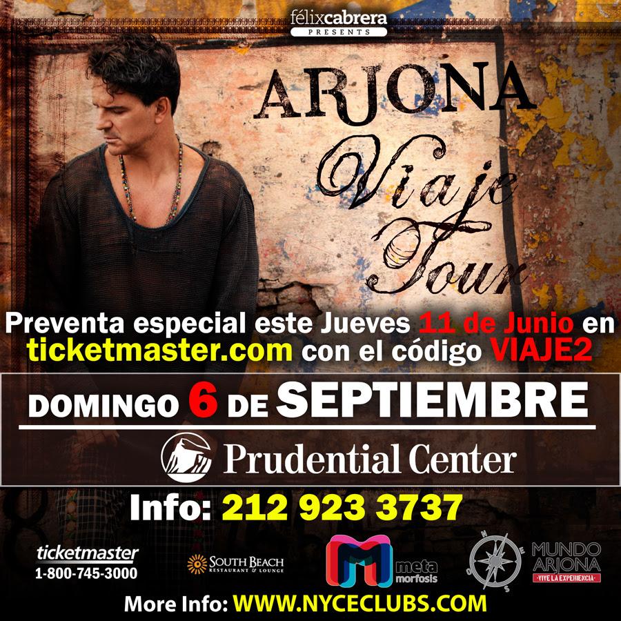 ARJONA EN EL PRUDENTIAL CENTER