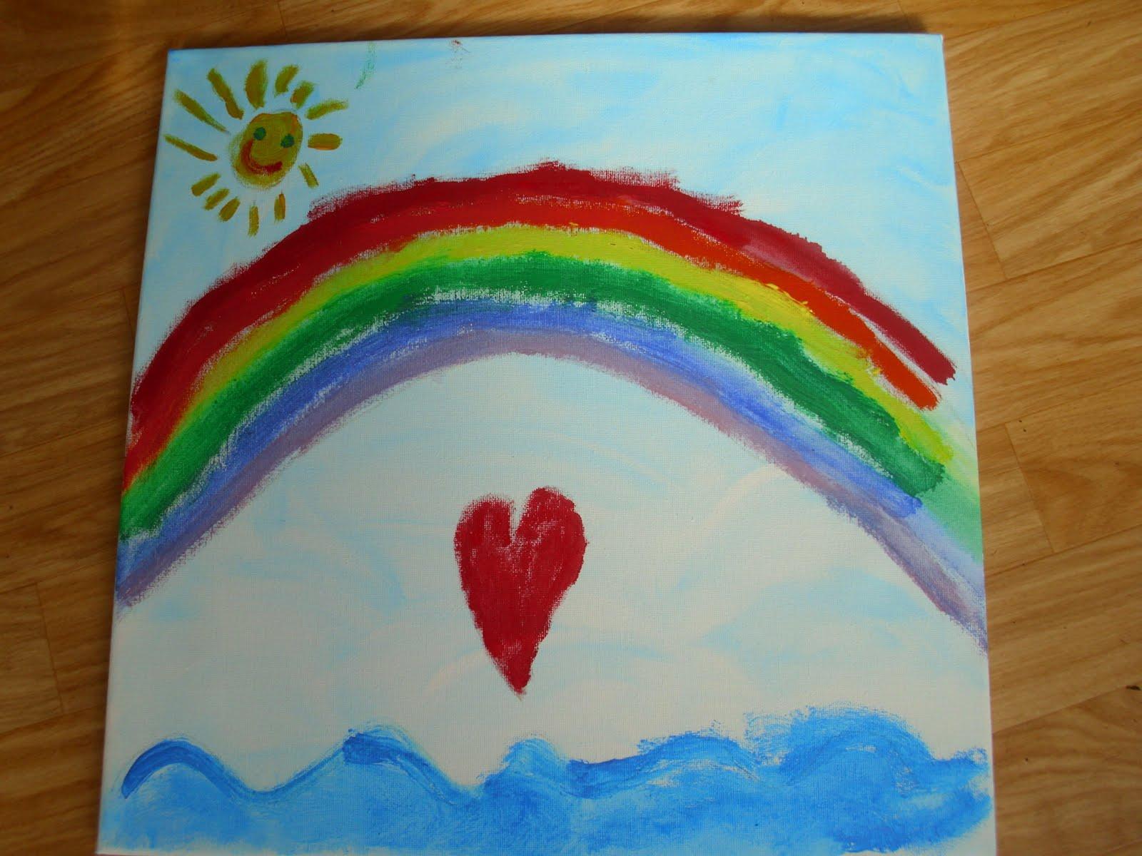 Rauw en gezond dag 15 vader en verjaardag in 1 - Kinder schilderij ...