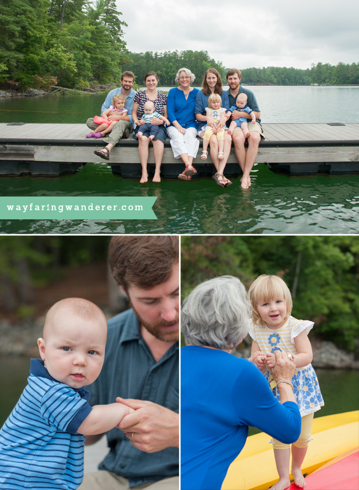 Hersey Family Adventure on Lake James, NC | On the Dock Family Portrait | Boone North Carolina Family Photographer