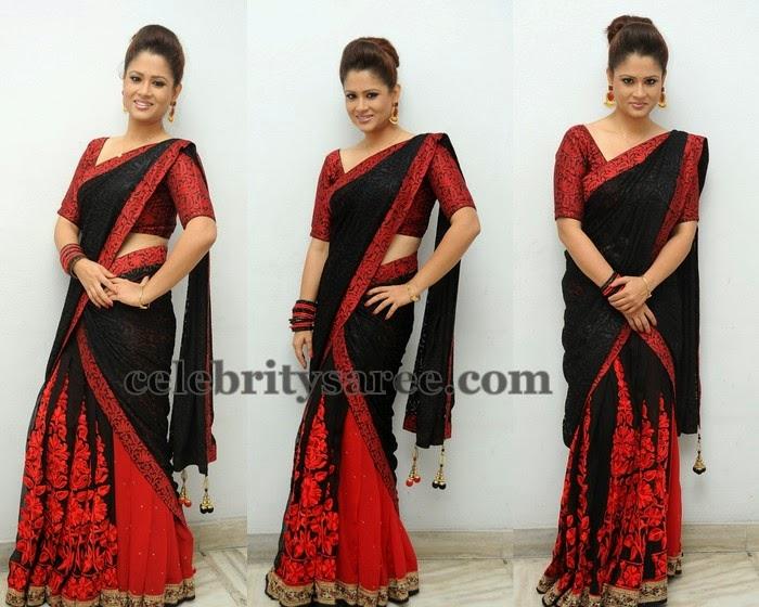 Shilpa Chakravarthy Brasso Saree