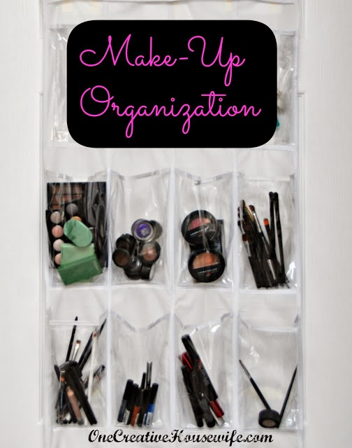 Over the door organizer for make up organization :: OrganizingMadeFun.com