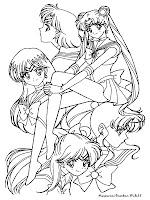 Gambar Sailor Moon Untuk Mewarnai