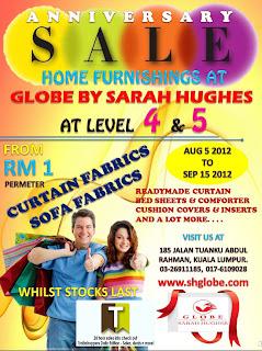 GLOBE Home Furnishings Anniversary Sale 2012