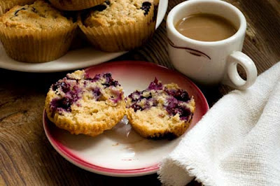 blueberry lime oatmeal muffins