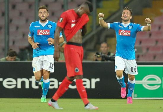 Napoli 5 x 0 Club Brugge - Europa League 2015/16