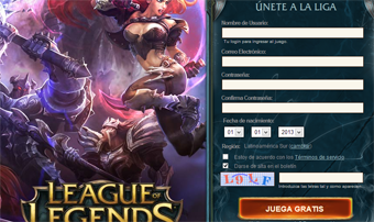 registrarse en league of legends