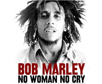 letra de la cancion no woman no cry de bob: