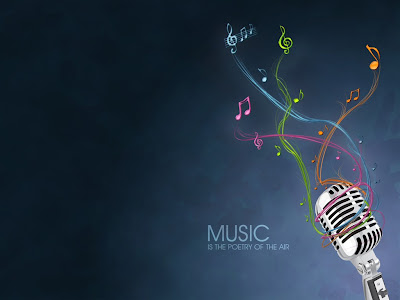 Music is the poetry of the air Wallpaper