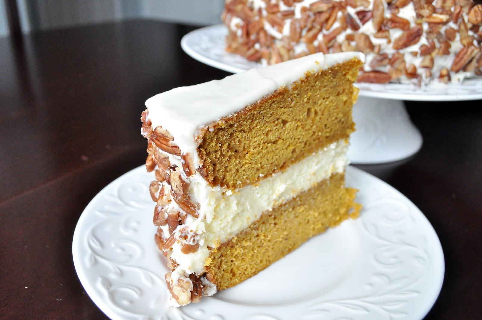 Not So Newlywed McGees: Pumpkin Cheesecake Cake
