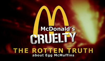 mcdonalds y sparboe maltratando a los pollos y gallinas