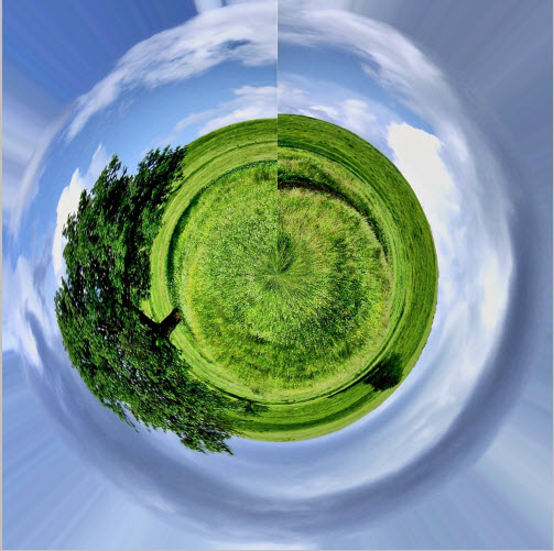 how to make polar coordinates in photoshop