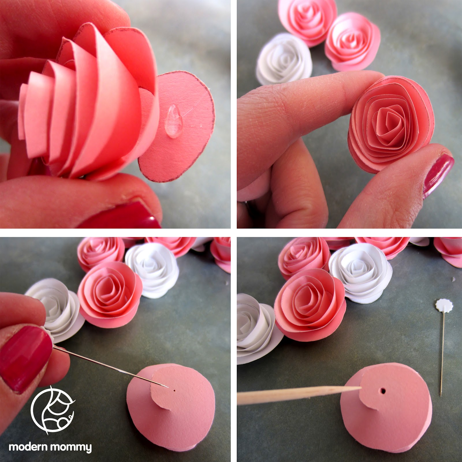 Modern Mommy Make It Monday Paper Rose Bouquet