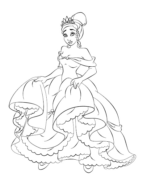 All Disney Princesses Coloring Pages Princess