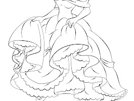 Disney Girl Cartoon Character Coloring Pages