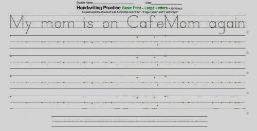 Traceable Handwriting Worksheets | Hand Writing