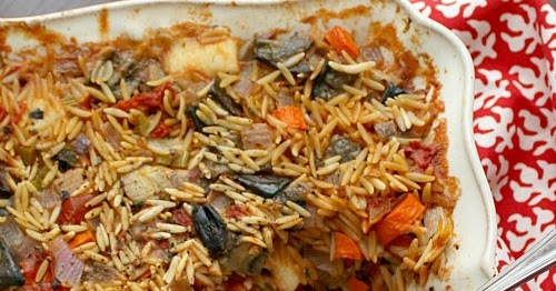 APPLE A DAY: Meatless Monday--Baked Orzo with Eggplant and Mozzarella