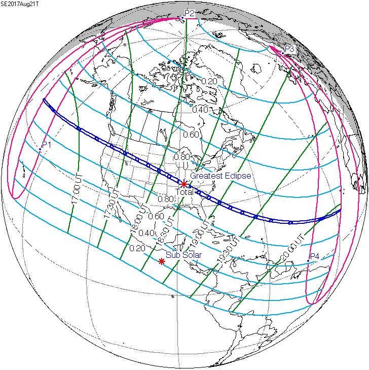 Лунные и солнечные затмения в 2017 году