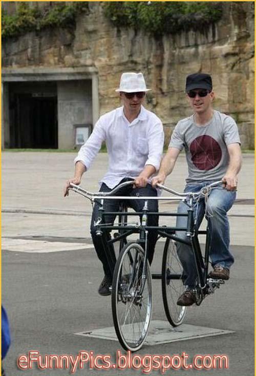 Odd Tandem Bike