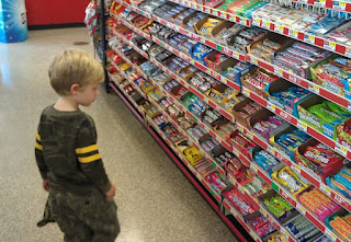Kid in the candy aisle