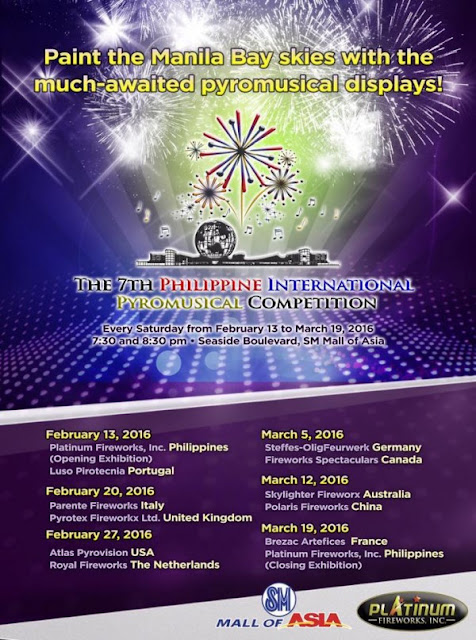 Fireworks: Philippine International Pyromusical Competition 2016 at SM Mall of Asia
