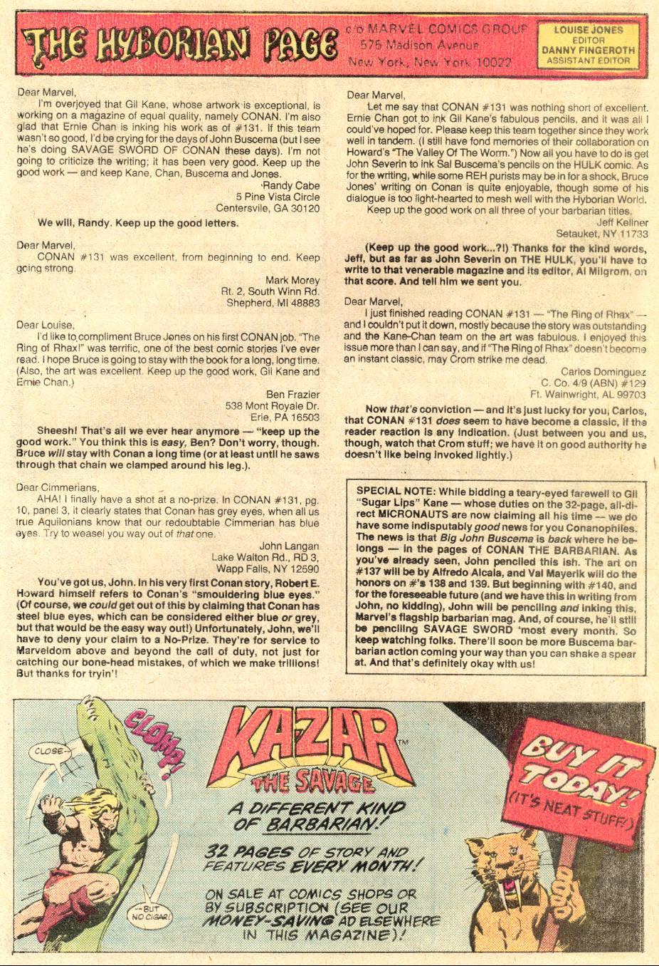 Conan the Barbarian (1970) Issue #136 #148 - English 25