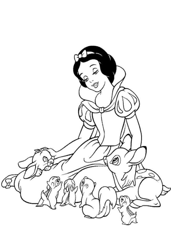 a desenhar Princesa Branca De Neve colorir