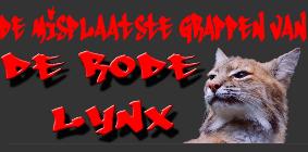 misplaatste grappen van de rode lynx