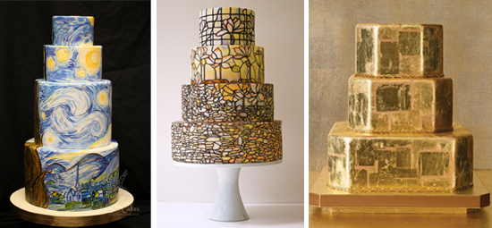 Wedding Cakes Inspired by Art