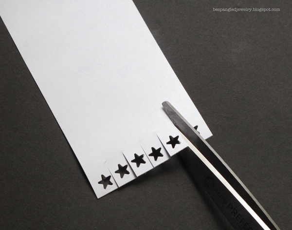 Step 3: Cut labels to create tabs around star shapes