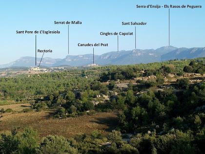 Els veïnats de L'Esglesiola i Canudes del Prat a ponent del Serrat del Ripés