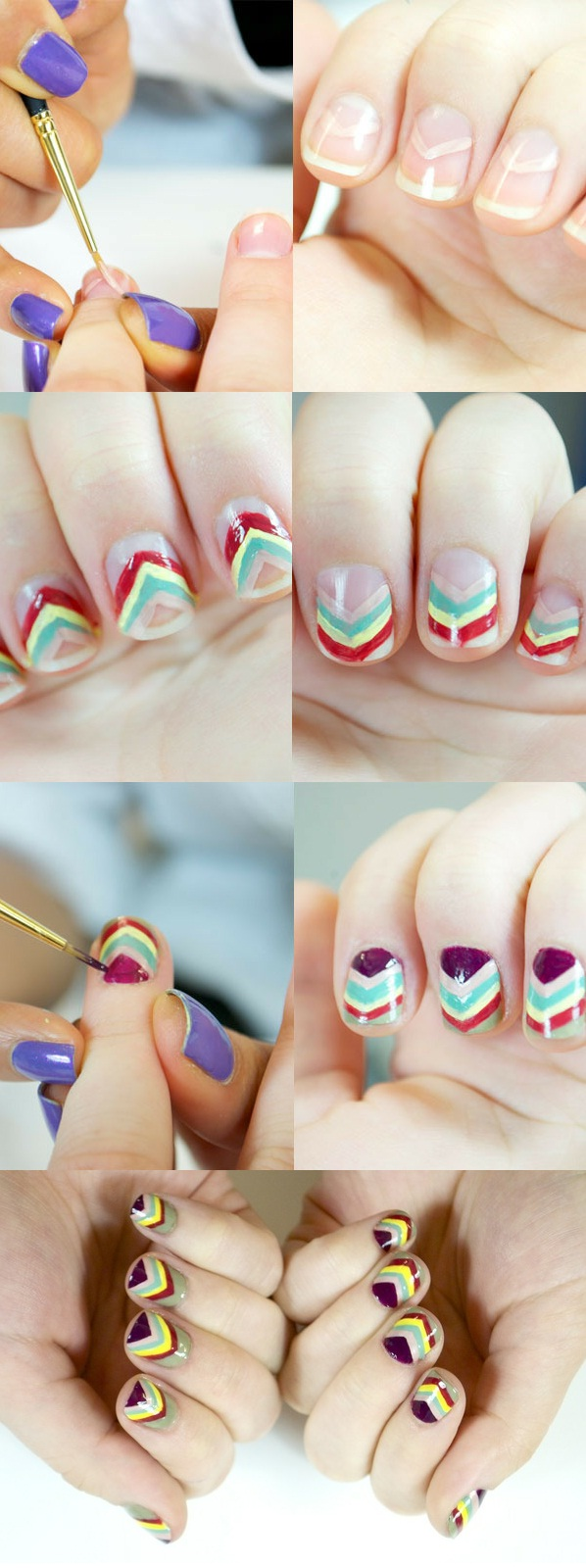 "How to do a Missoni-inspired Manicure ""Nails Art Tutorial"""