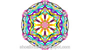 Colourful floral shape art designs patterns.
