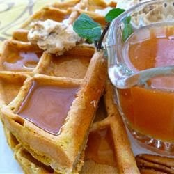 Pumpkin Waffles with Apple Cider Syrup | Cook'n is Fun - Food Recipes ...