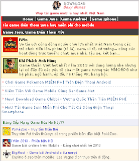 giao dien site wap mien phi cho blogger