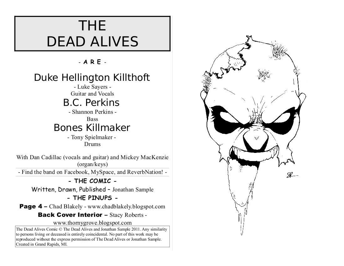 JONATHAN SAMPLE ART STUFFS: Comic Work - The Dead Alives Comic