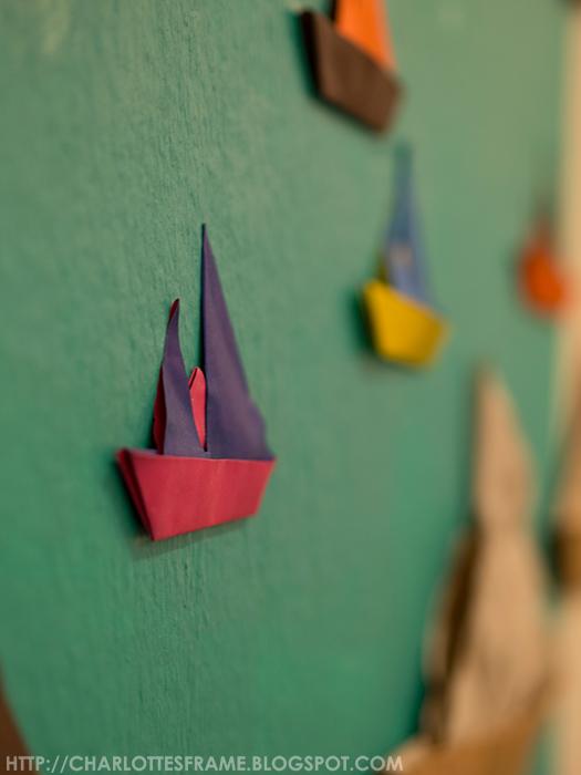 boats, boats art, mini paper boats, paper boats, colourful boats
