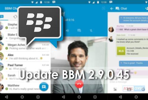 Update BBM versi 2.9.0.45