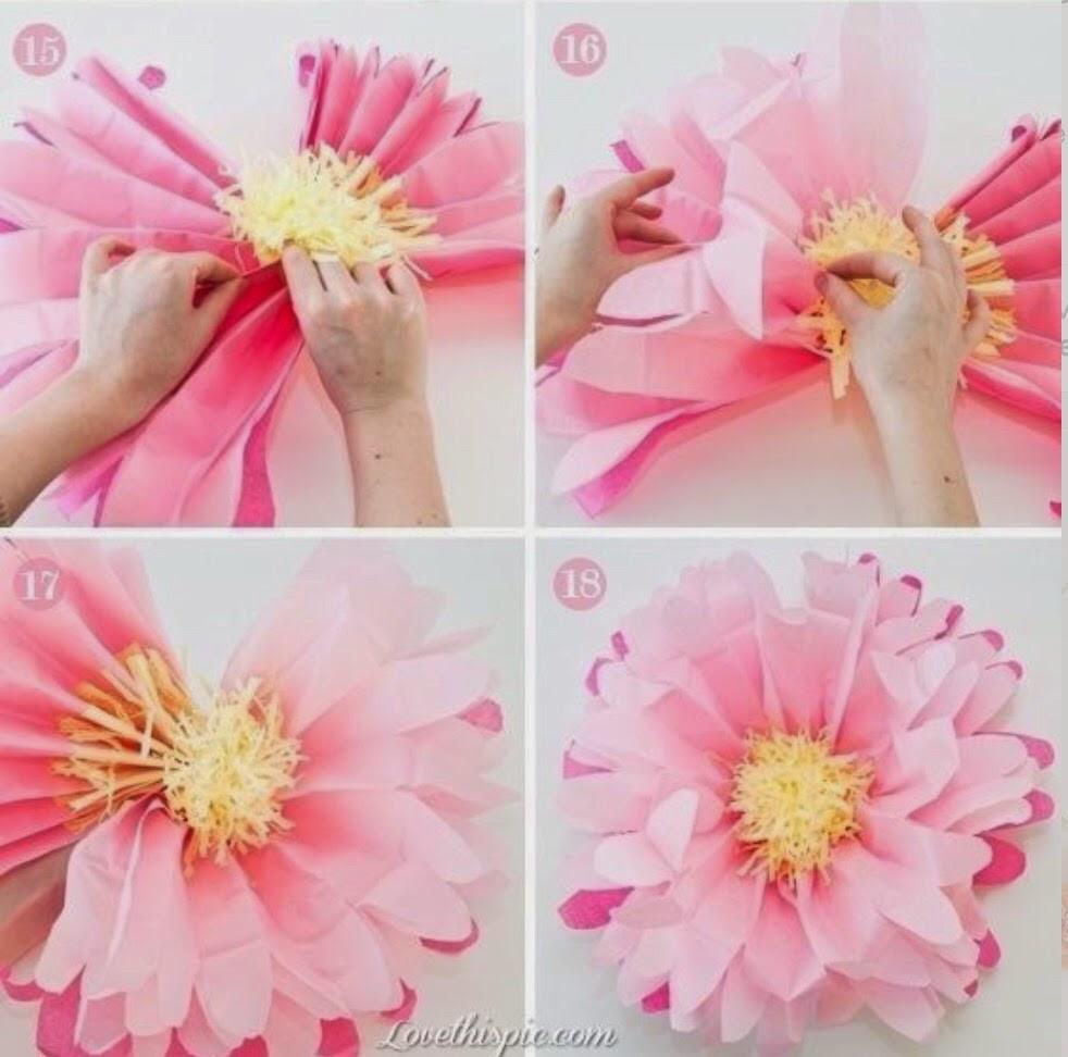 Бумажные цветы своими руками для украшения 519