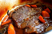 Pot roast. From scratch. No onion soup mix. This is home cookin'!