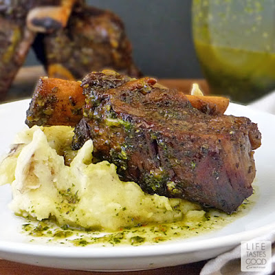 Chimichurri Braised Beef Short Ribs   by Life Tastes Good