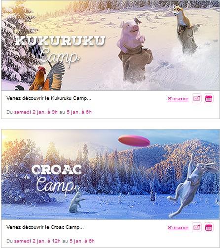 vente privee winter camp