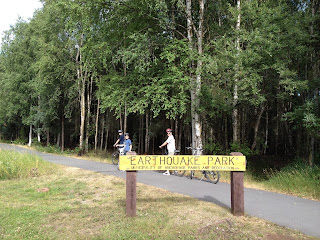 Bicycle trail in Anchorage