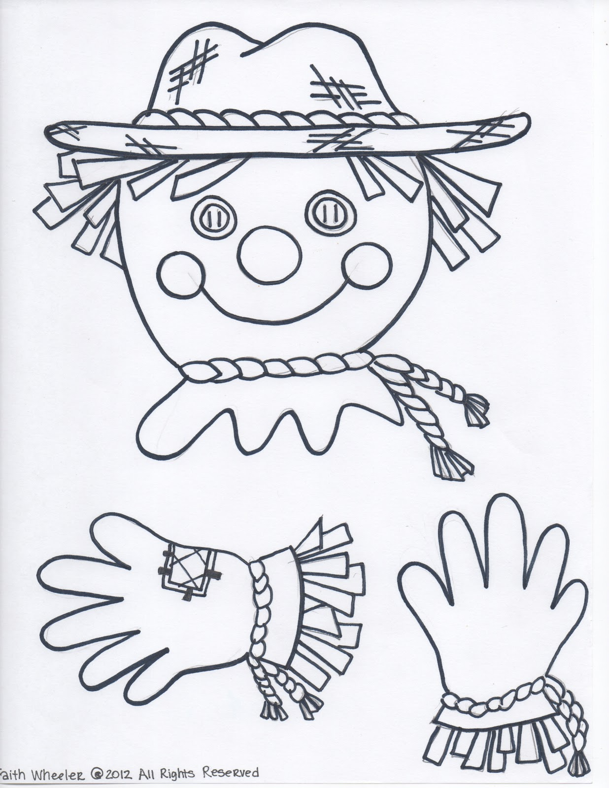 Fabulous image intended for scarecrow pattern printable
