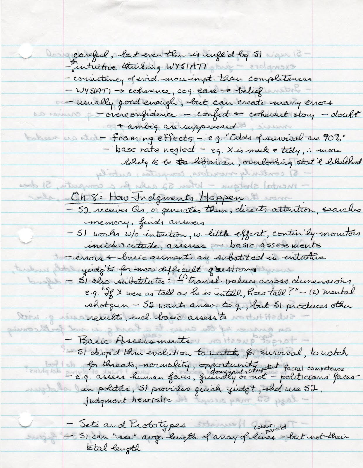 Thinking Fast and Slow - Study Notes